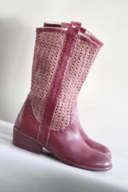 Utopie - Hoge roze opengewerkte laarzen - Mt 37