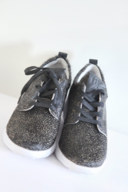 Est 1842 - Donkerbruine aaibare sneakers met tijgerprint - Mt 39