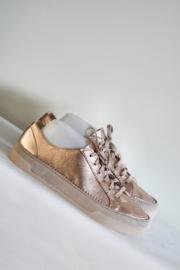 Clarks - Roze goud metallic lederen sneakers - Mt 41