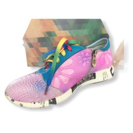 Laura Vita Limited - Lila lederen sneakers - Mt 39