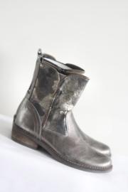 Freaks - Zilver brons metallic lederen laarsjes - Mt 33