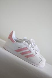Adidas - Wit roze lederen Gazelle sneakers - 33