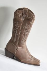 Vannini - Bruin bewerkte lederen cowboy boots - Mt 38 & 39