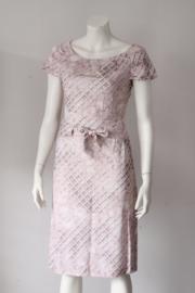Daite - Lila roze jurk met print - Mt 34