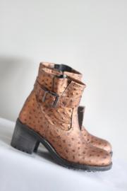 LSQ - Goud brons kleurige boots met blokhak - Mt 38