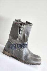 Shoesme - Zilver grijs lederen laarsjes met gesp - Mt 37