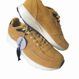 Woden - Oker geel suède lederen sneakers - Mt 40