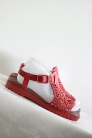 Camper - Rood geborduurde sandalen - Mt 37