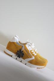 Marco Tozzi - Oker geel suede lederen sneakers - Mt 42