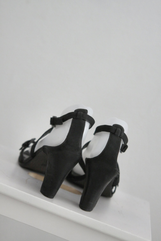 Nieuw! Ecco Zwart lederen sandalen met riempjes Mt 41