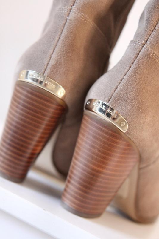 Nieuw! Michael Kors Bruin suede laarzen met franje Mt 36