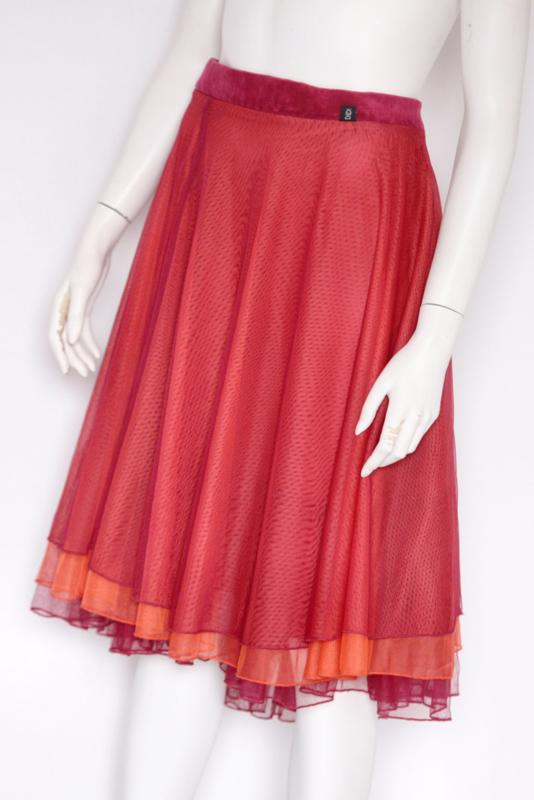 Didi - Roze oranje tulle rok - Mt 46