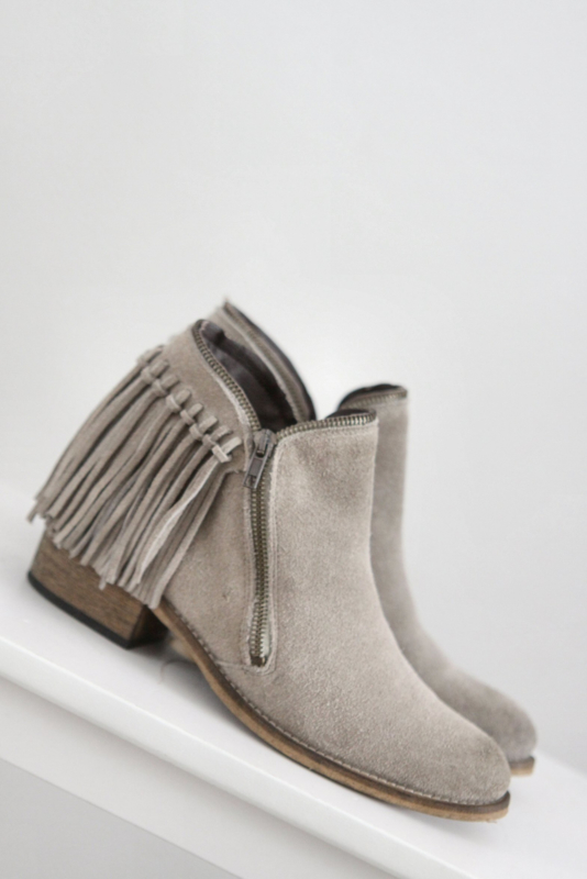 Verwonderend Online Shoes - Grijs suede enkellaarsjes met franje - Mt 38 | NEW SR-34