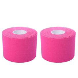 2 Rollen roze KINACTIEVE tape