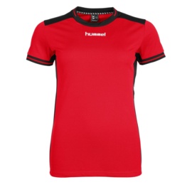 Rood Hummel dames shirt korte mouw Lyon