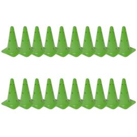20 Groene kegels en pionnen met gaten