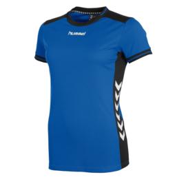 Blauw Hummel dames shirt korte mouw Lyon
