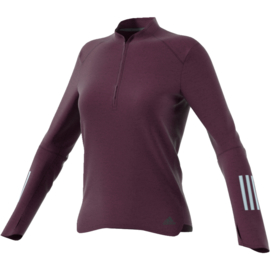 Bordeaux running zip trui dames running
