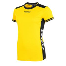 Hummel dames shirt geel met korte mouw Lyon