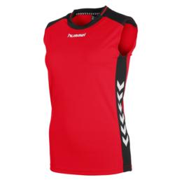 Mouwloos rood shirt dames Lyon van Hummel
