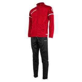 Stanno Prestige trainingspak rood met zwarte broek