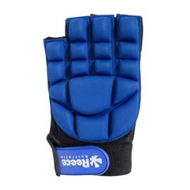Hockey beschermingshandschoenen halve vingers blauw