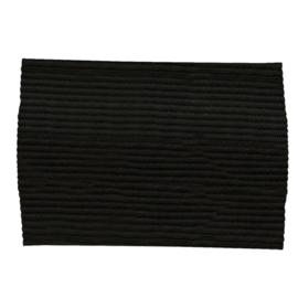 Zwarte rouwband / zwarte aanvoerdersband