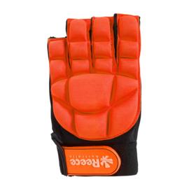 Hockey beschermingshandschoenen halve vingers oranje