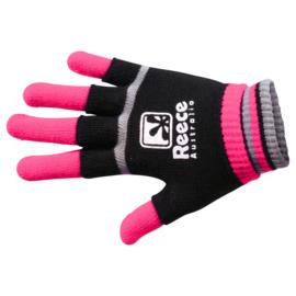 Roze zwarte Reece Australia hockey handschoenen