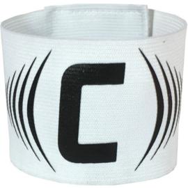 Witte aanvoerdersband met klittenband