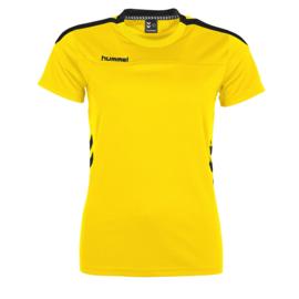 Geel dames T-shirt Hummel Valencia