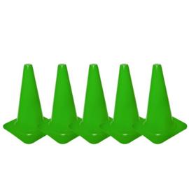 5 Groene pionnen en kegels