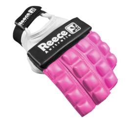 Roze Hockey protectie handschoen halve vingers