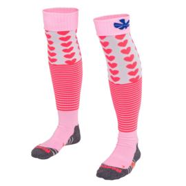 Roze hockeysokken met hartjes van Reece