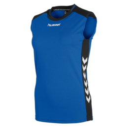 Mouwloos blauw shirt dames Lyon van Hummel