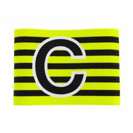 Gele aanvoerdersband met klittenband