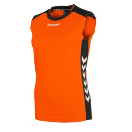 Mouwloos oranje shirt dames Lyon van Hummel