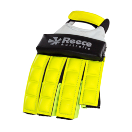 Gele Hockey protectie handschoen halve vingers