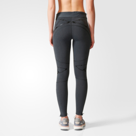 Hardloop legging Adidas dames grijs