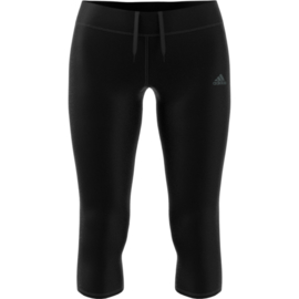 Adidas zwarte hardloopbroek driekwart dames