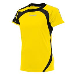 Geel dames shirt korte mouw Odense van Hummel