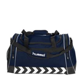 Grote donkerblauwe Hummel sporttas voetbaltas