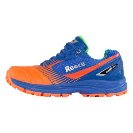 Blauwe oranje hockeyschoenen Reece