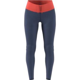 Blauwe dames hardloop legging