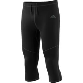 Driekwart hardloopbroek heren Adidas zwart
