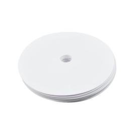 10 platte witte markeringsschijven