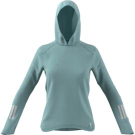 Lichtblauwe dames hoodie Adidas running | Dames | Mijn ...