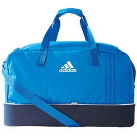 Adidas blauwe voetbaltas TIRO met schoenenvak