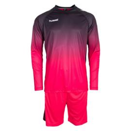 Zwart roze keeperstenue inclusief broek van Hummel