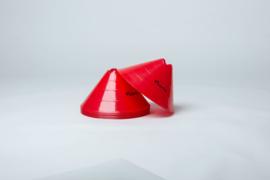 10 Hoge hoedjes rood of geel